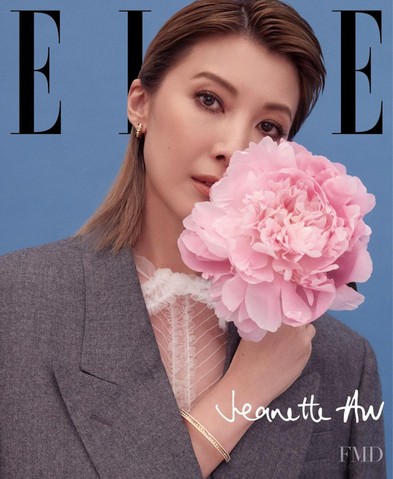 Jeanette Aw featured on the Elle Singapore cover from August 2020