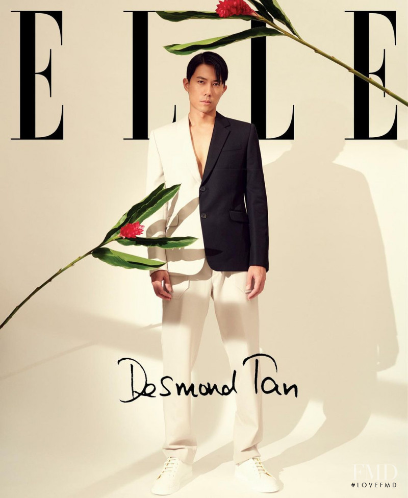 Desmond Tan featured on the Elle Singapore cover from August 2020