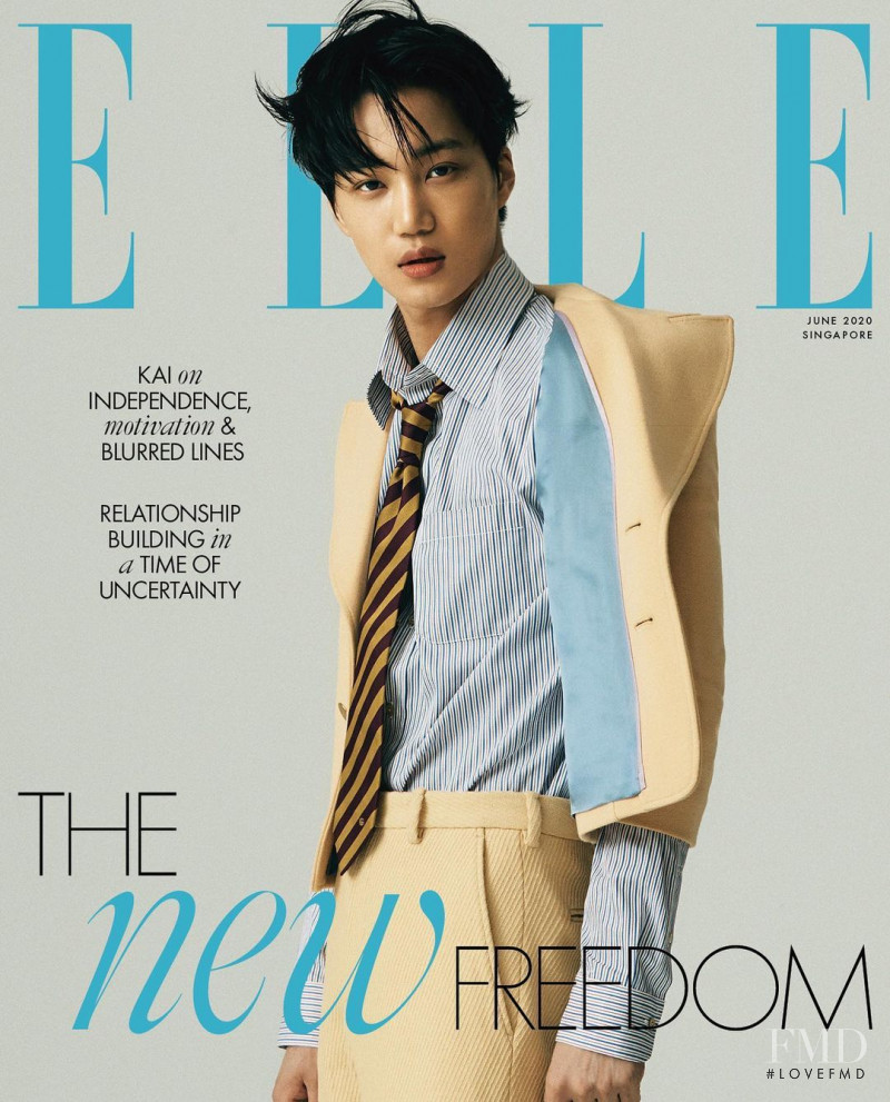 Kim Jong-in  featured on the Elle Singapore cover from June 2020