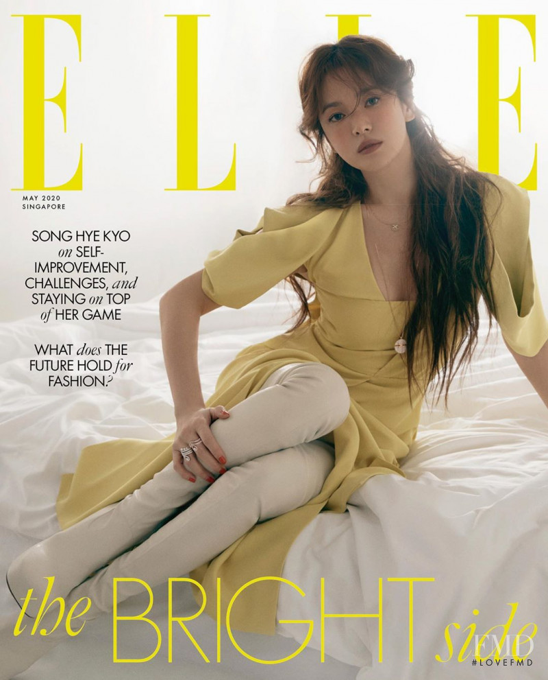 Song Hye Kyo  featured on the Elle Singapore cover from May 2020