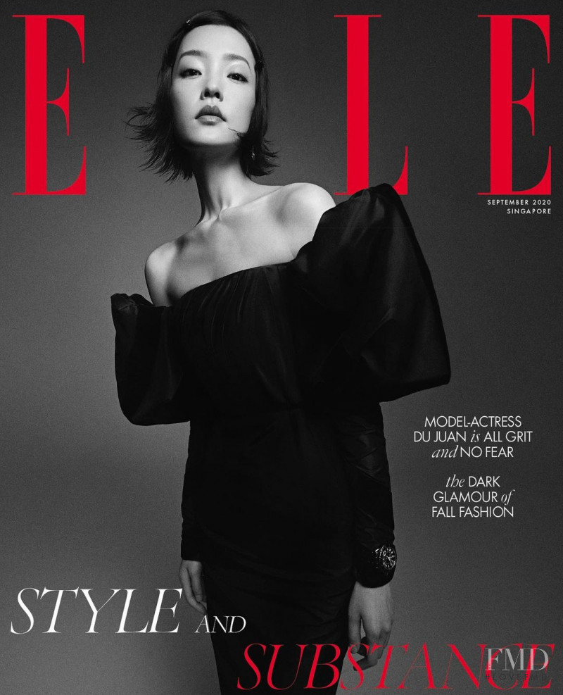 Du Juan featured on the Elle Singapore cover from September 2020