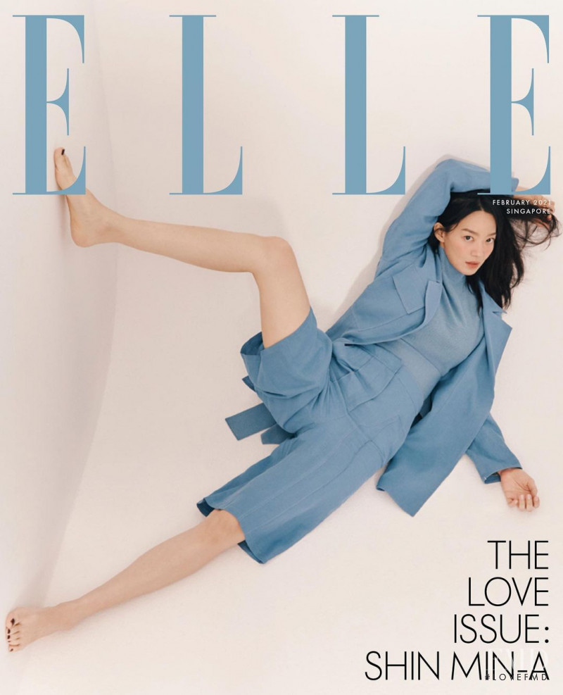 Shin Min-A featured on the Elle Singapore cover from February 2021