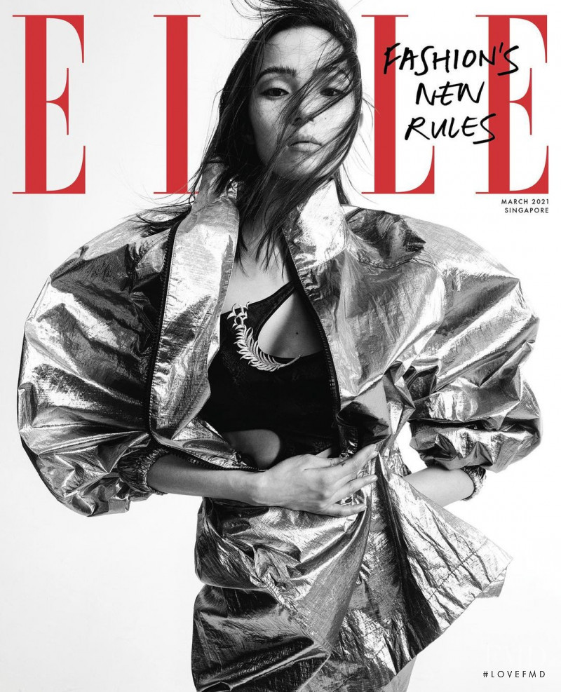 Xiao Wen Ju featured on the Elle Singapore cover from March 2021