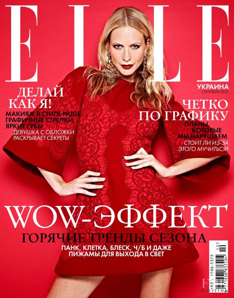 Poppy Delevingne featured on the Elle Ukraine cover from September 2013