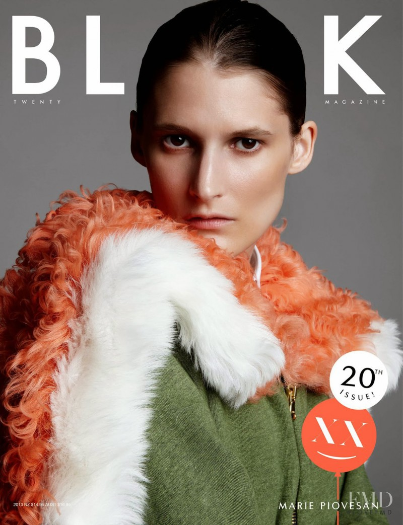 Marie Piovesan featured on the Black Magazine cover from September 2013