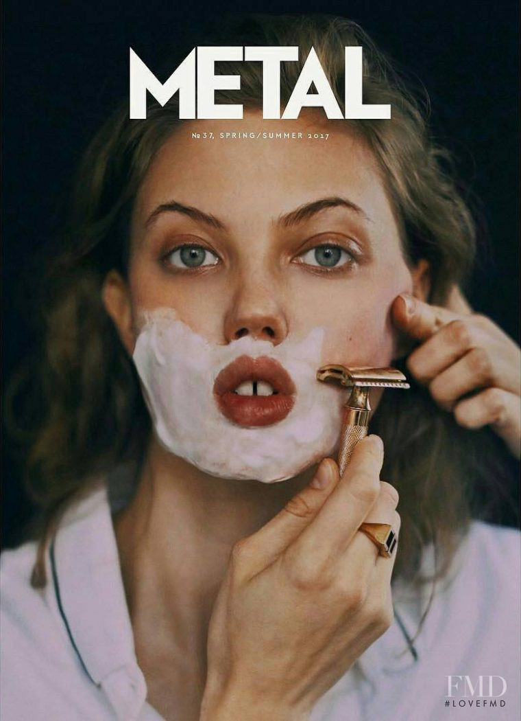 Lindsey Wixson featured on the METAL cover from February 2017