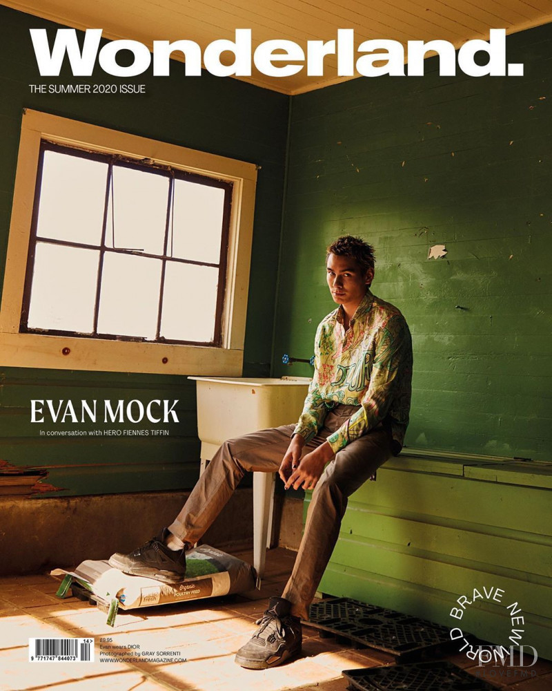 Evan Mock featured on the Wonderland cover from May 2020
