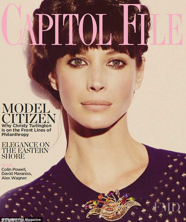 Christy Turlington featured on the Capitol File cover from July 2012