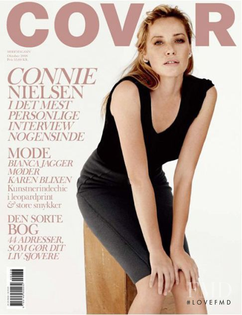 Connie Nielsen featured on the Cover cover from October 2008