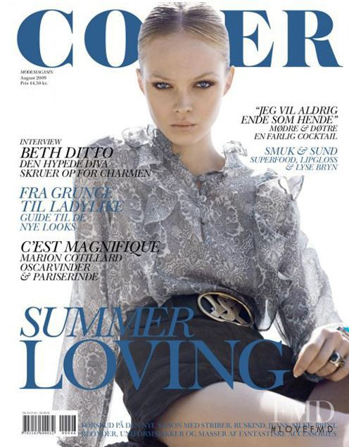 Siri Tollerod featured on the Cover cover from August 2009