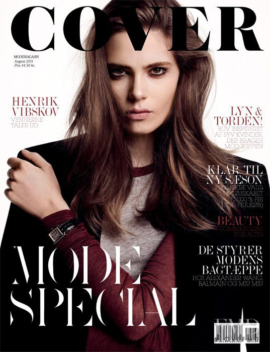 Caroline Brasch Nielsen featured on the Cover cover from August 2011