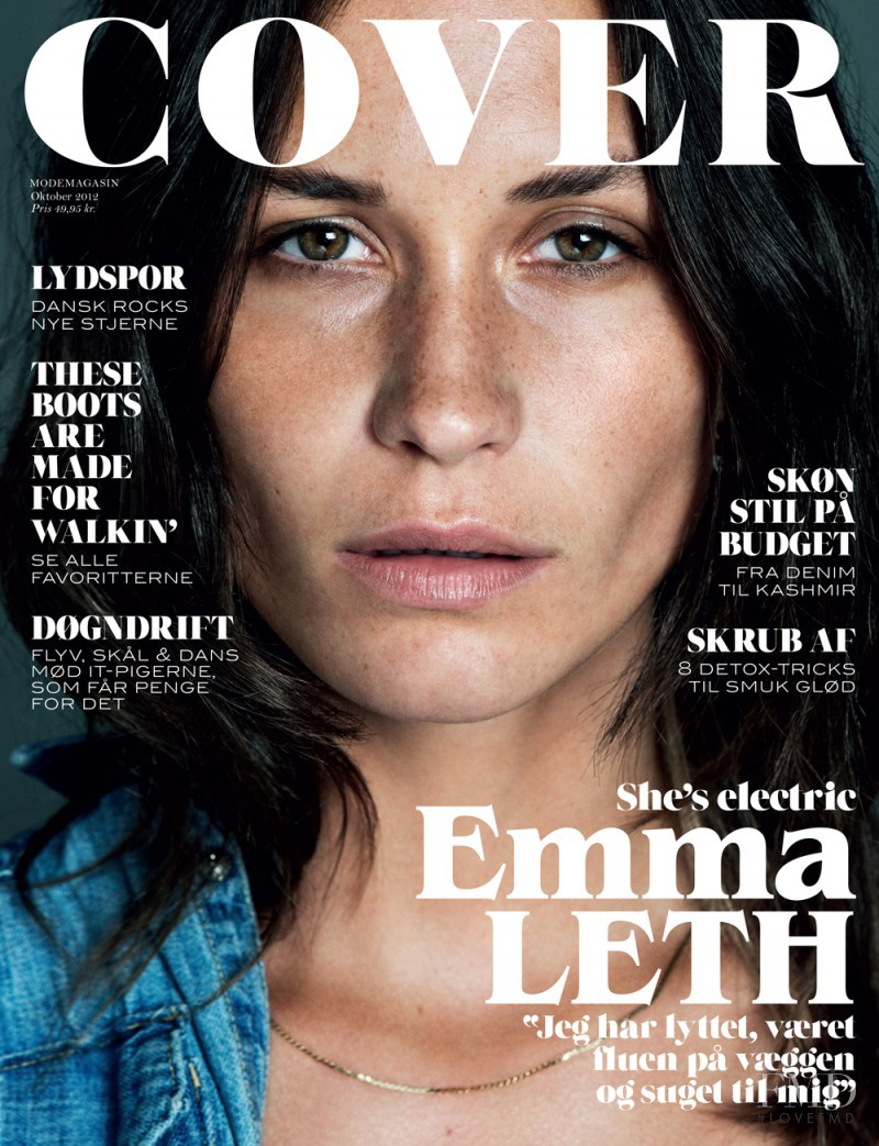 Emma Leth featured on the Cover cover from October 2012