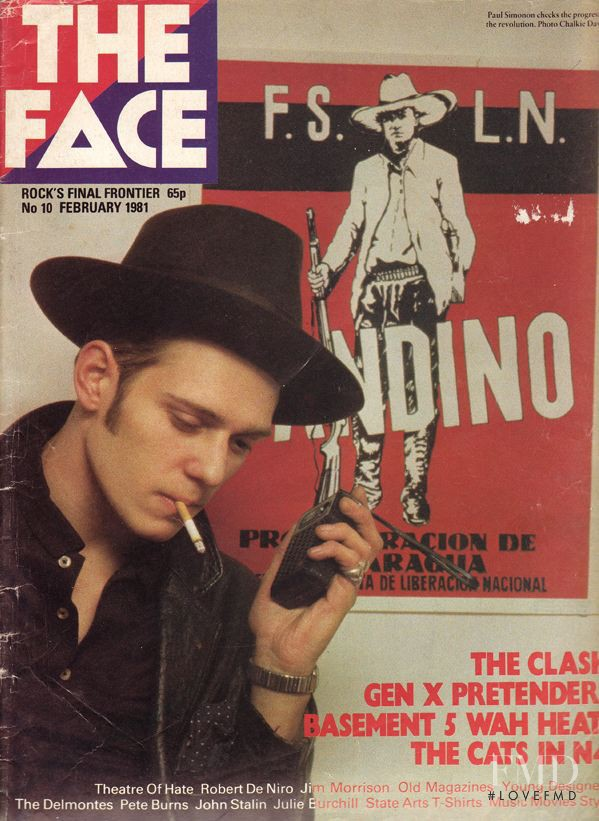 featured on the The Face cover from February 1981