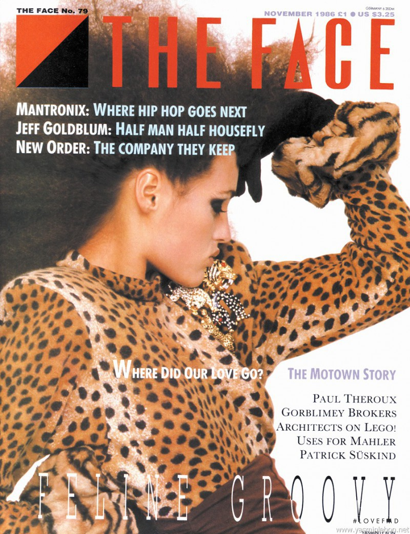 Yasmin Le Bon featured on the The Face cover from November 1986