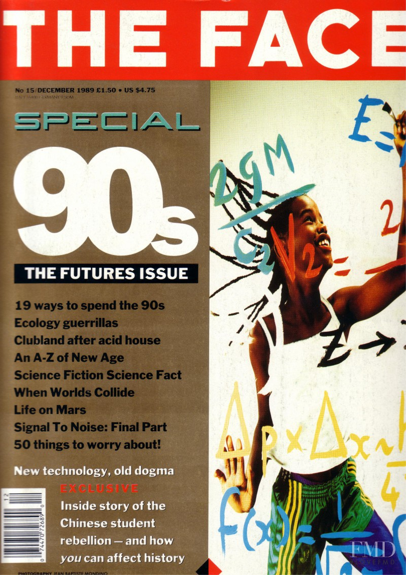 featured on the The Face cover from December 1989