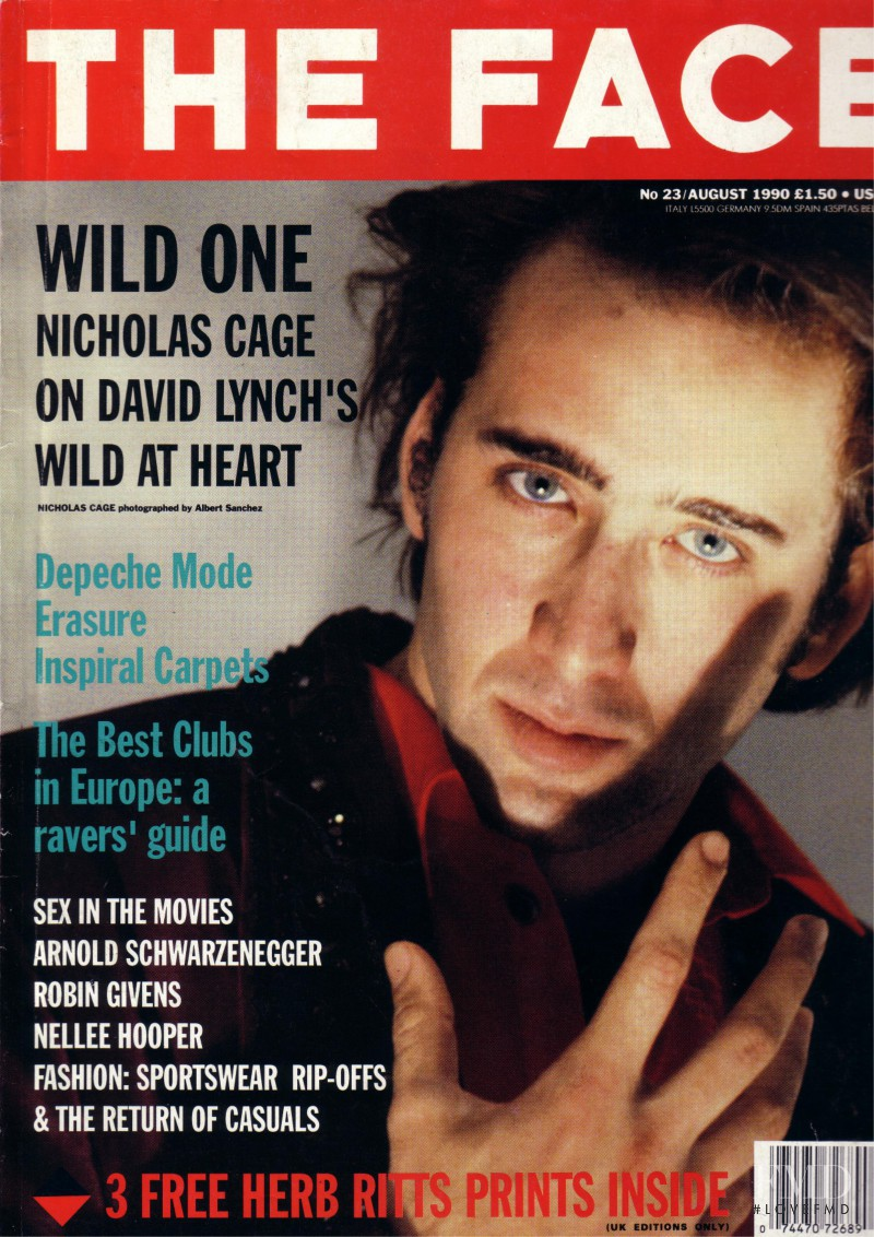 featured on the The Face cover from August 1990