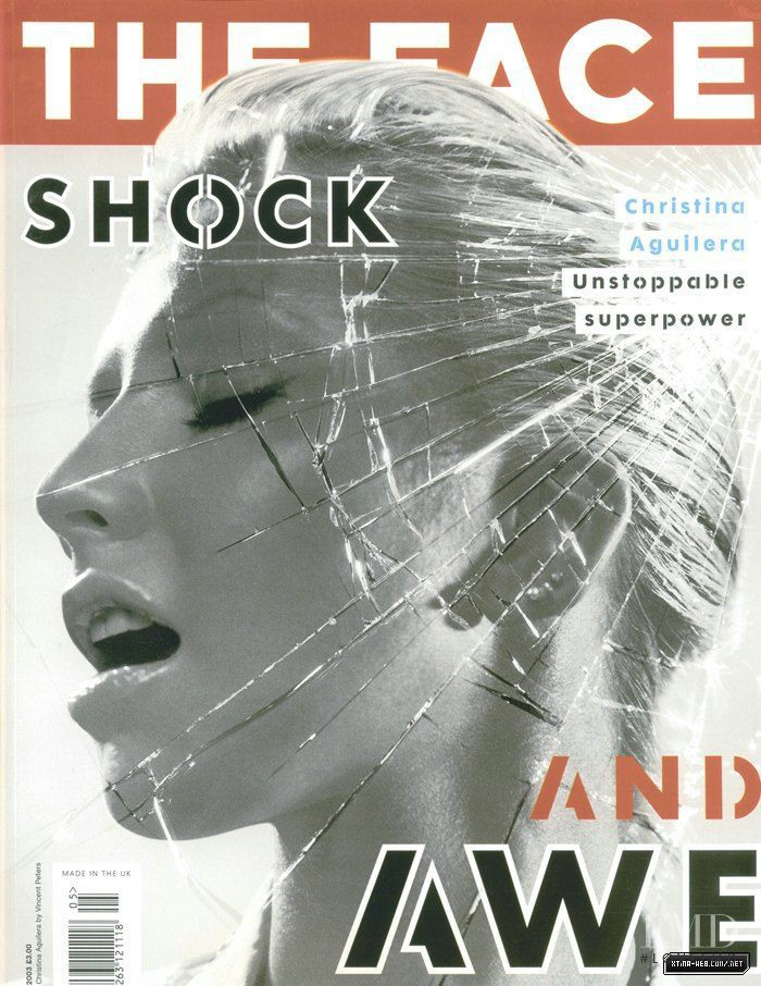 Christina Aguilera featured on the The Face cover from May 2003