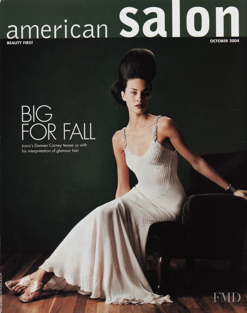 Flavie Lheritier featured on the American Salon  cover from October 2004