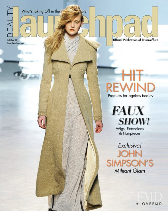 Caroline Trentini featured on the beauty launch pad cover from October 2011