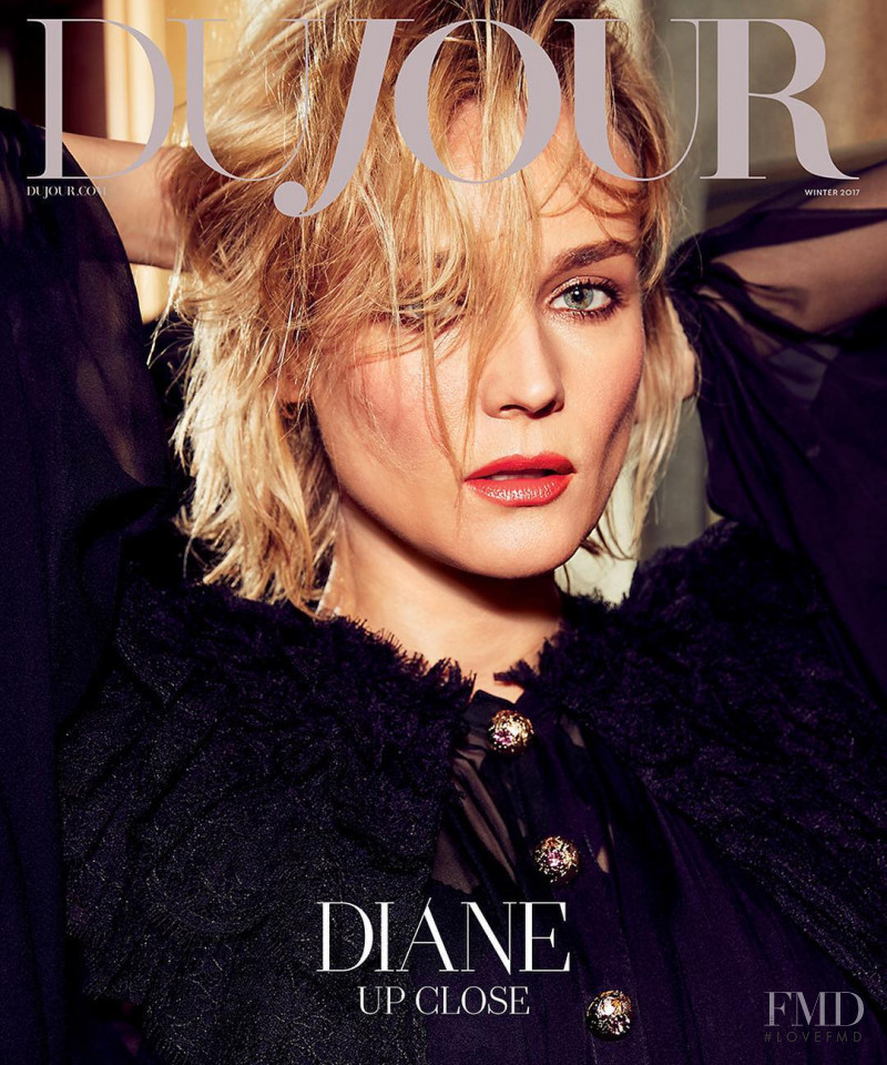 Diane Heidkruger featured on the DuJour cover from December 2017
