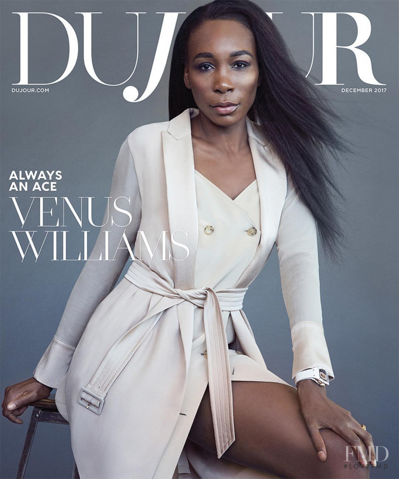 Venus Williams featured on the DuJour cover from December 2017