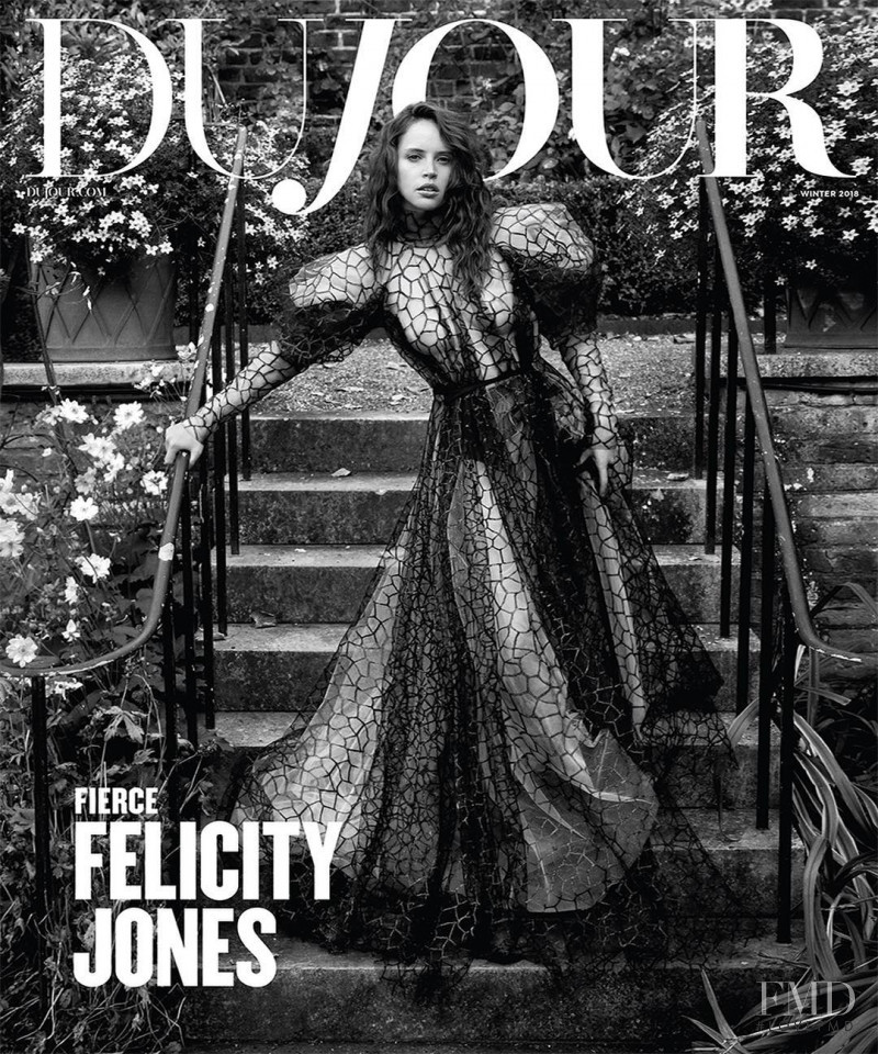 Felicity Jones featured on the DuJour cover from December 2018