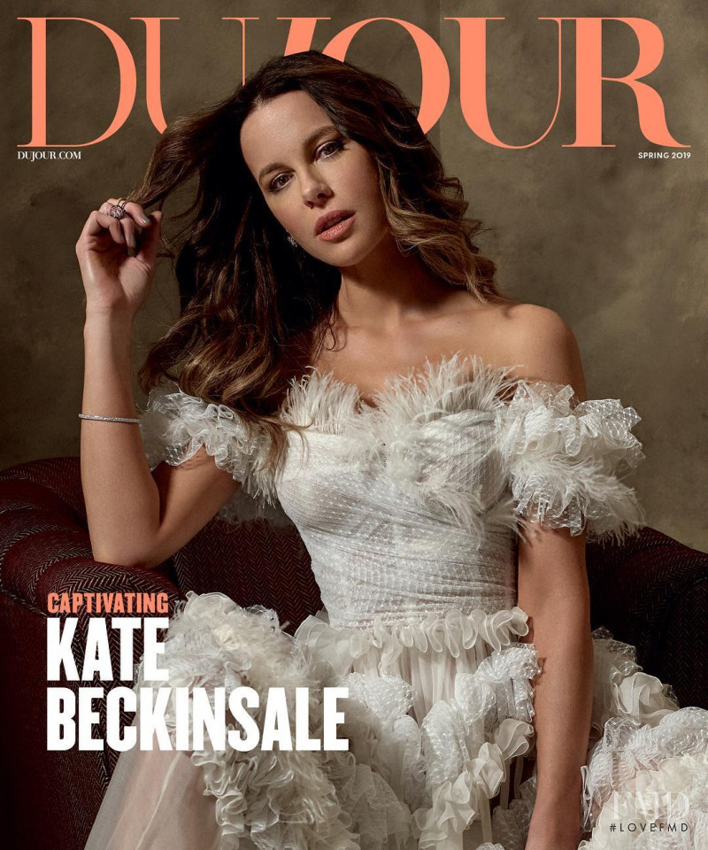 Kate Beckinsale featured on the DuJour cover from March 2019