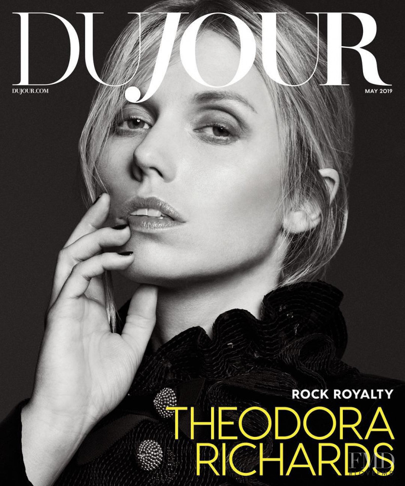 Theodora Richards featured on the DuJour cover from May 2019