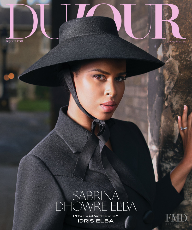 Sabrina Elba  featured on the DuJour cover from March 2020
