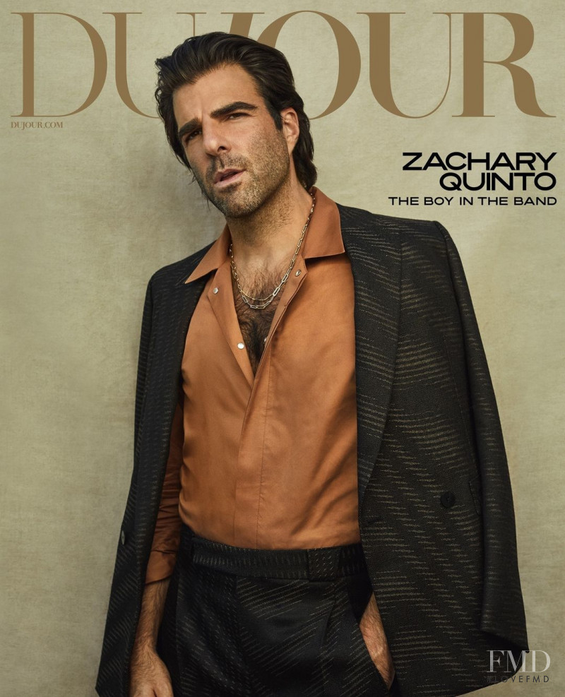 Zachary Quinto featured on the DuJour cover from October 2020