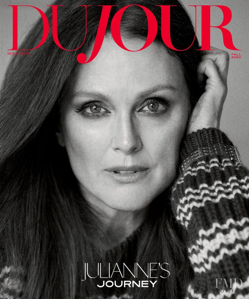 Julianne Moore featured on the DuJour cover from September 2020