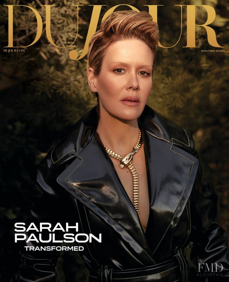 Sarah Paulson featured on the DuJour cover from January 2021