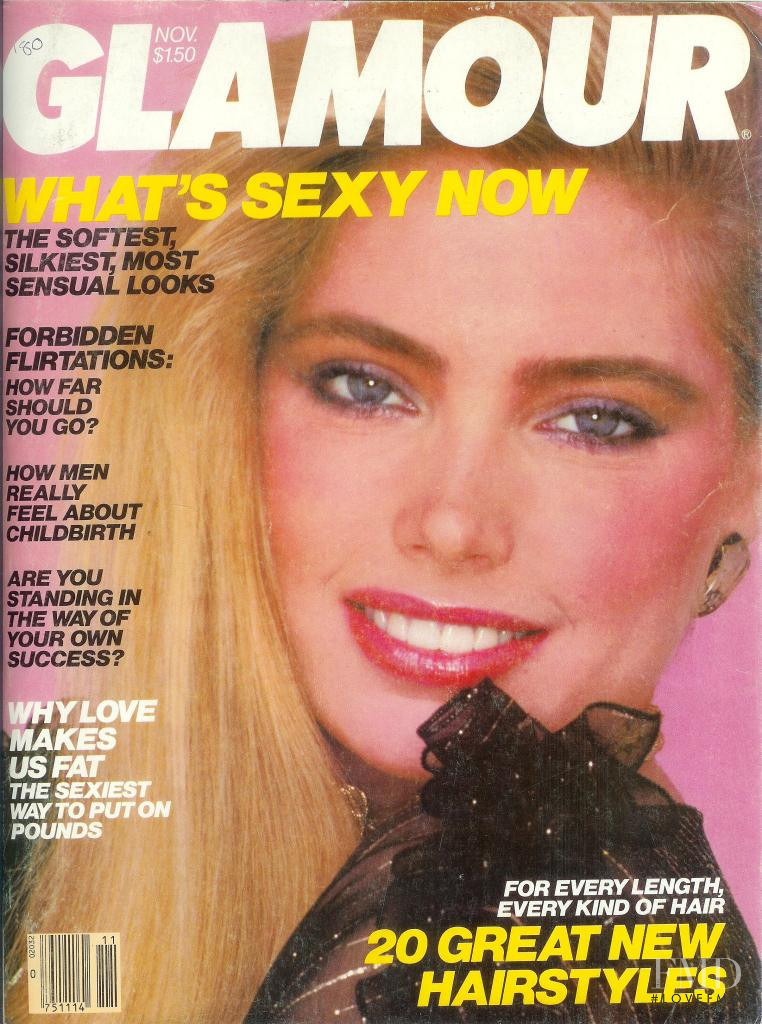 Kelly Emberg featured on the Glamour USA cover from November 1980