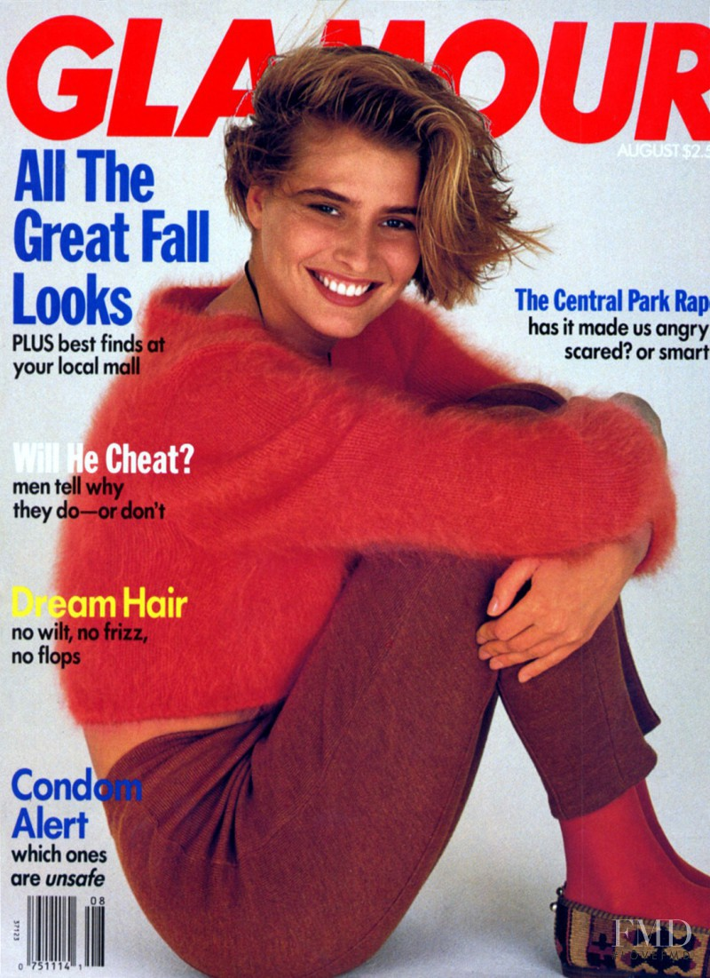 Cathy Fedoruk featured on the Glamour USA cover from August 1989