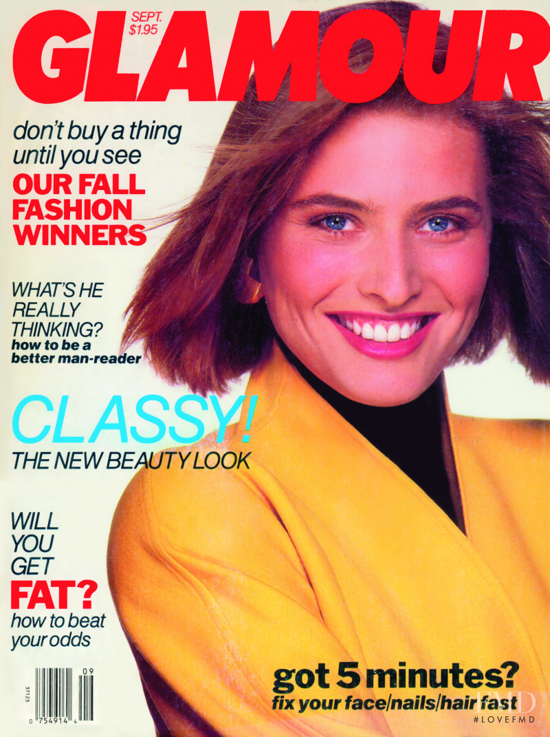 Cathy Fedoruk featured on the Glamour USA cover from September 1989