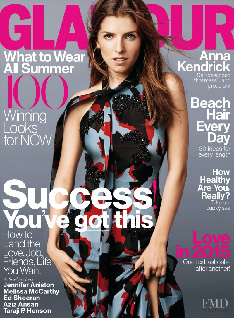 Anna Kendrick featured on the Glamour USA cover from June 2015