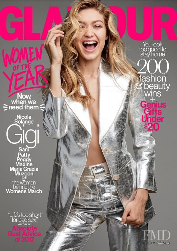 Gigi Hadid featured on the Glamour USA cover from December 2017