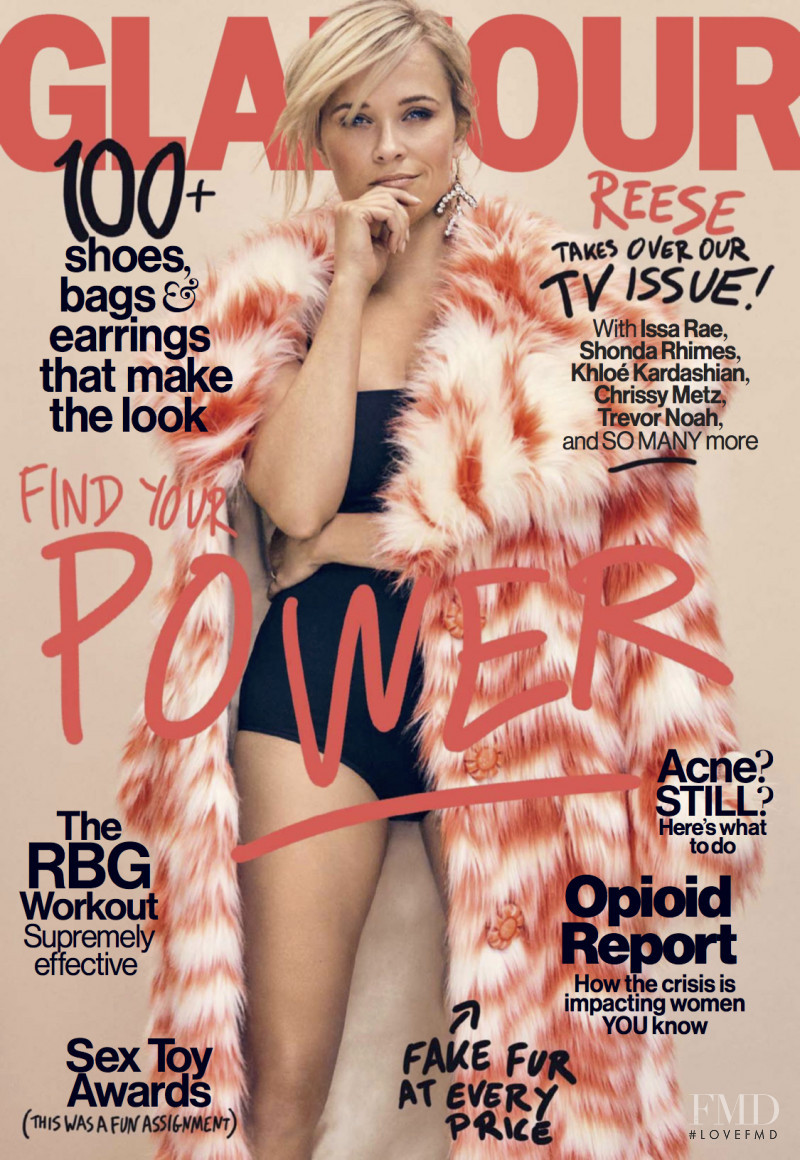 Reese Witherspoon featured on the Glamour USA cover from October 2017