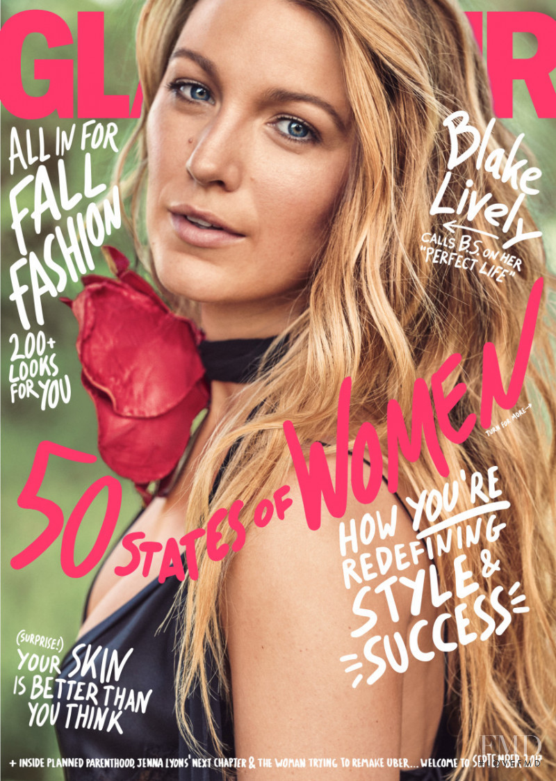 Blake Lively featured on the Glamour USA cover from September 2017