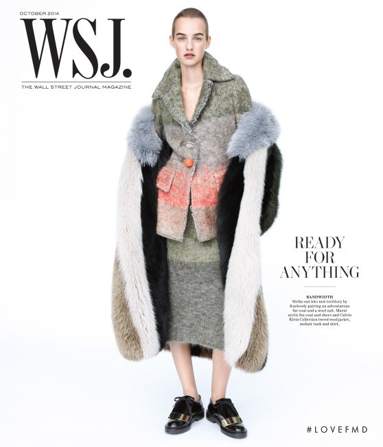 Maartje Verhoef featured on the WSJ cover from October 2014