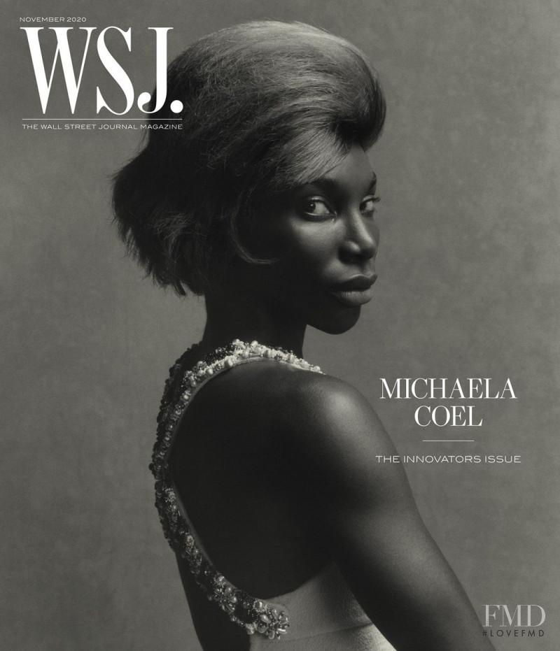 Michaela Coel featured on the WSJ cover from November 2020