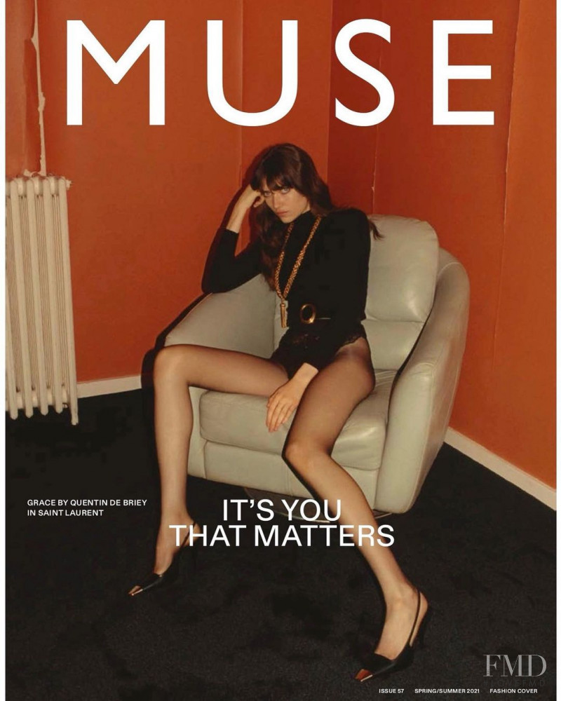 Grace Hartzel featured on the Muse cover from March 2021
