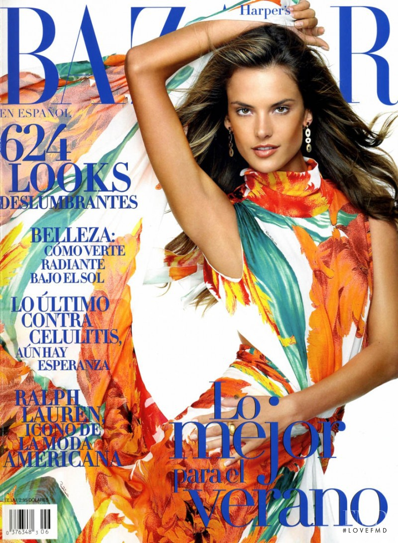 Alessandra Ambrosio featured on the Harper\'s Bazaar Spain cover from June 2006