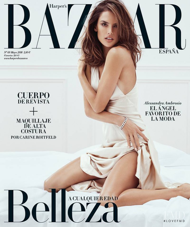 Alessandra Ambrosio featured on the Harper\'s Bazaar Spain cover from May 2016