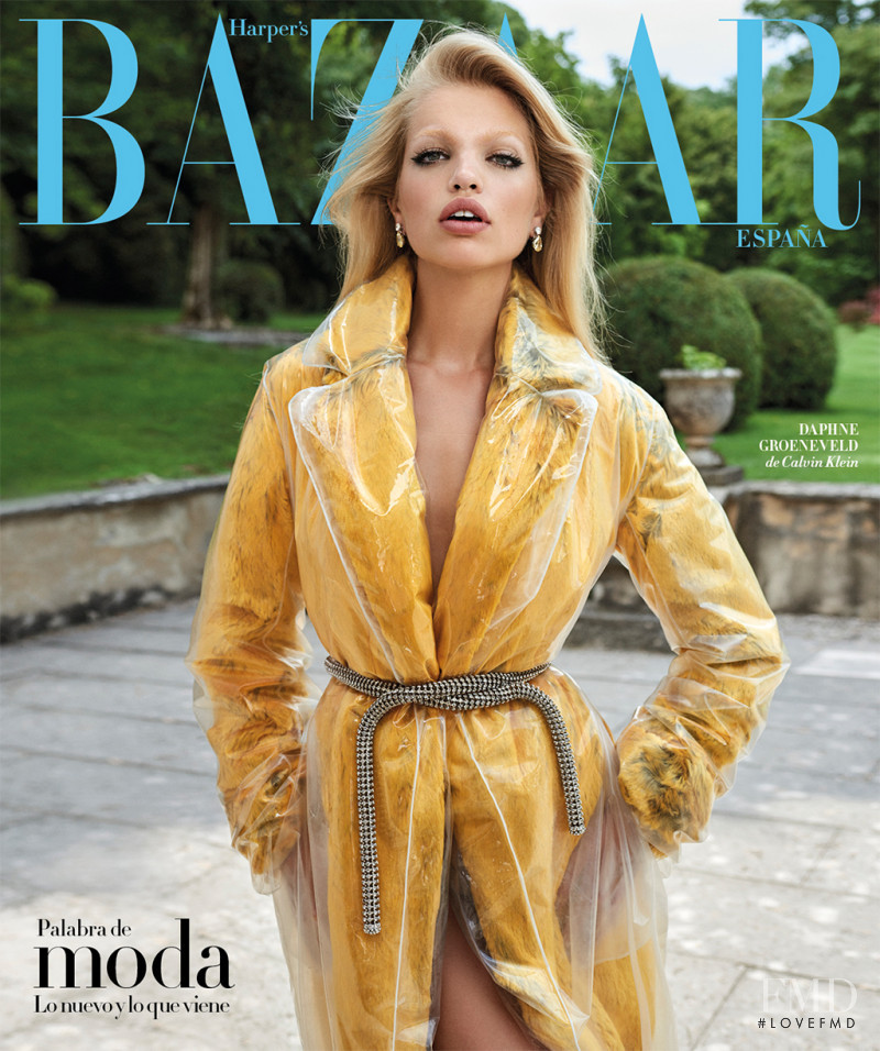 Daphne Groeneveld featured on the Harper\'s Bazaar Spain cover from August 2017