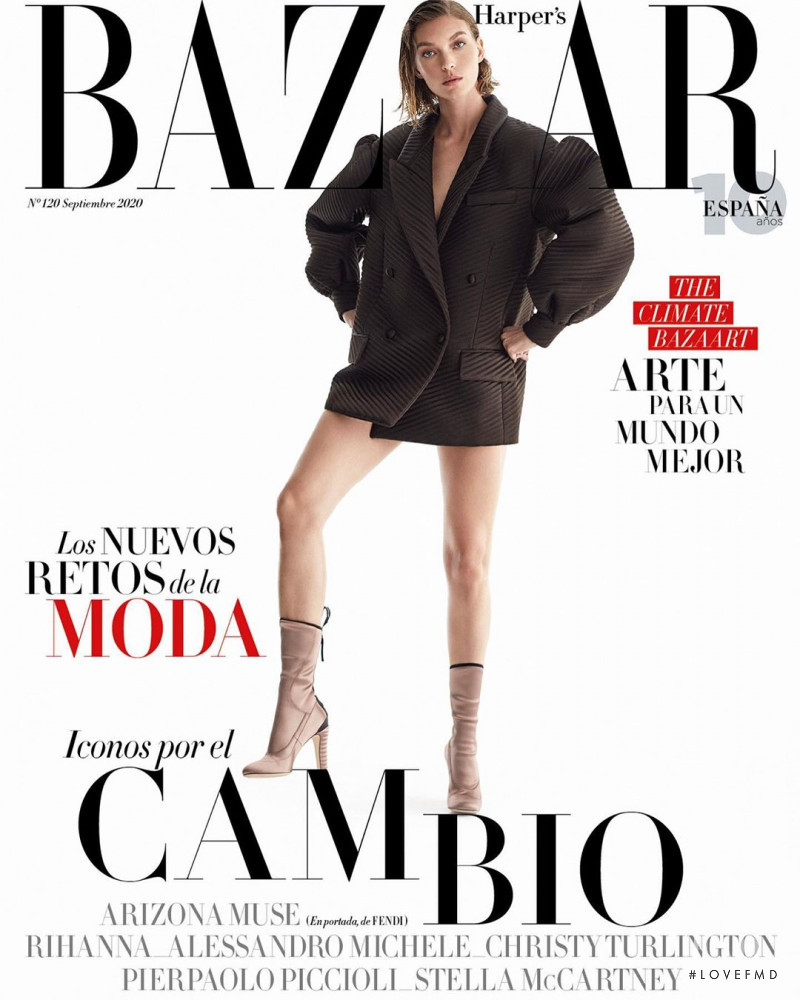 Arizona Muse featured on the Harper\'s Bazaar Spain cover from September 2020