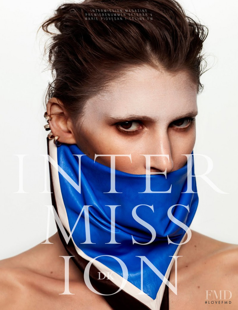 Marie Piovesan featured on the Intermission Magazine cover from September 2012