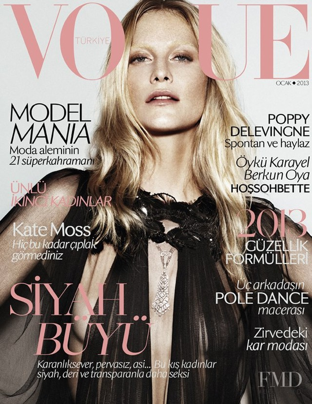 Poppy Delevingne featured on the Vogue Turkey cover from January 2013