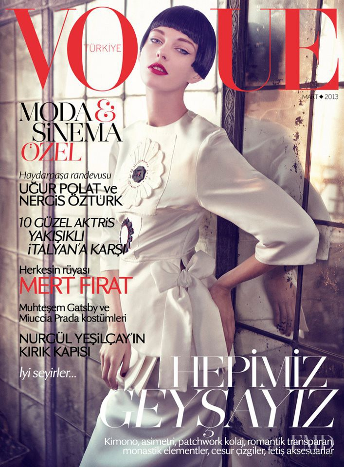 Patricia van der Vliet featured on the Vogue Turkey cover from March 2013