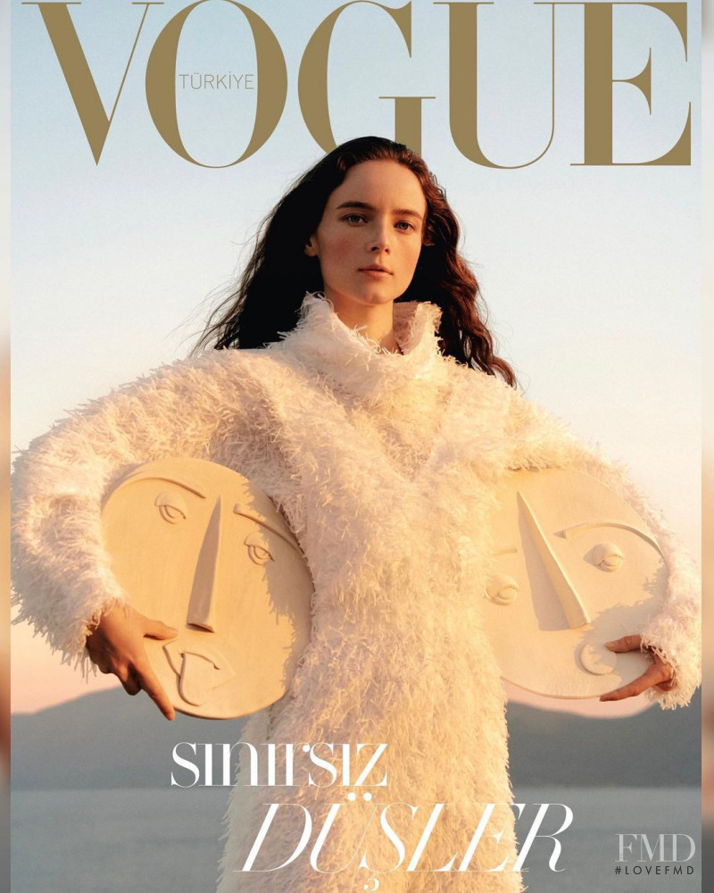 Anna de Rijk featured on the Vogue Turkey cover from December 2020